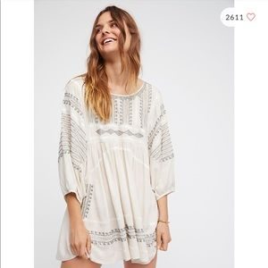 Tops - Free People Wild One Embroidered Tunic